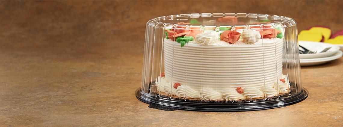 Пластиковая упаковка для торта