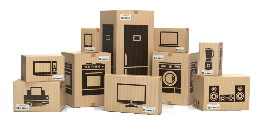 коробки с бытовой техникой
