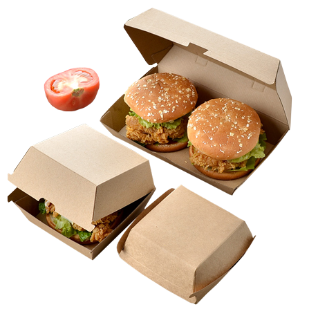 коробки с бургерами
