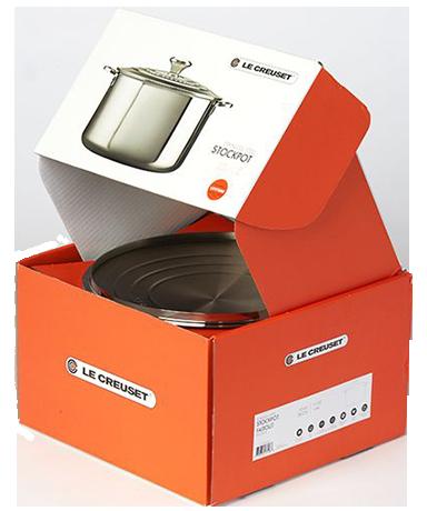 оранжевая коробка для кострюли