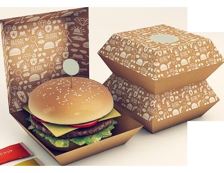 стильная упаковка с бургером