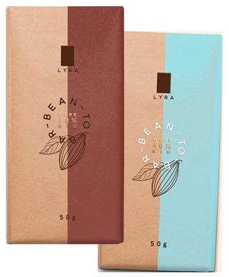 двухцветная упаковка шоколада