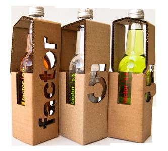 упаковка с бутылками