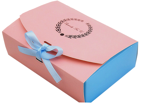 Розовая коробка из картона для торта