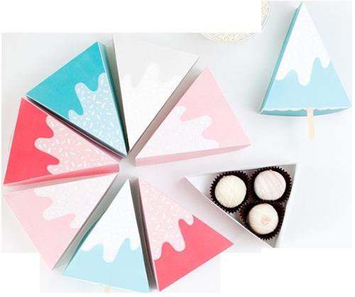 упаковка для отдельного кусочка торта