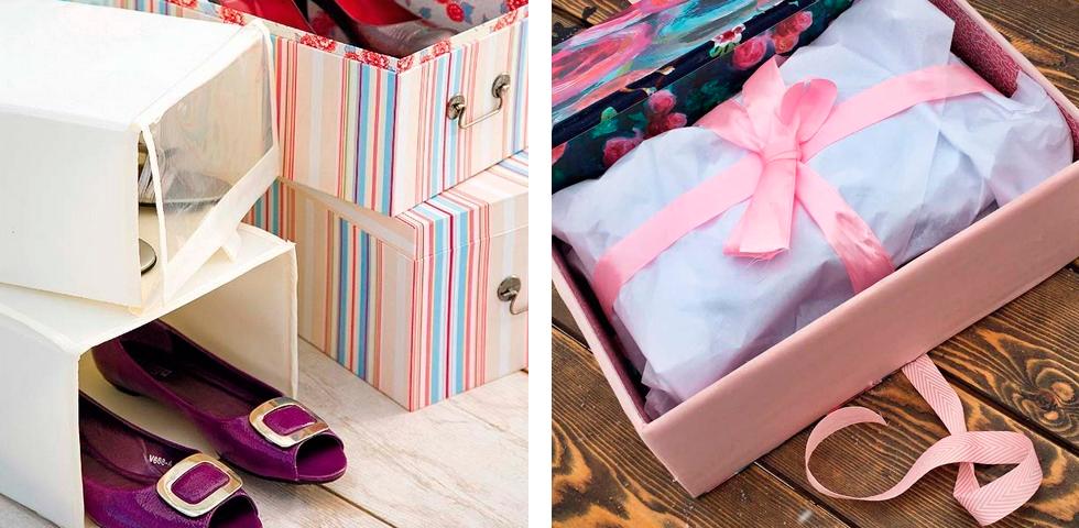 декорированные коробки для одежды