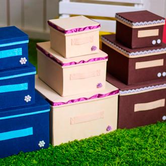 декорированные коробки