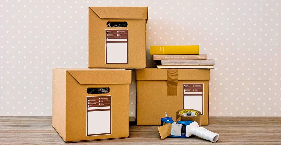 картонные коробки в квартире