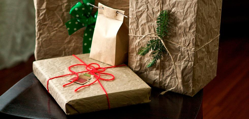 новогодние подарки в крафте