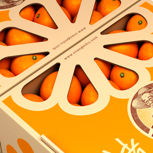 оранжевая промо-упаковка