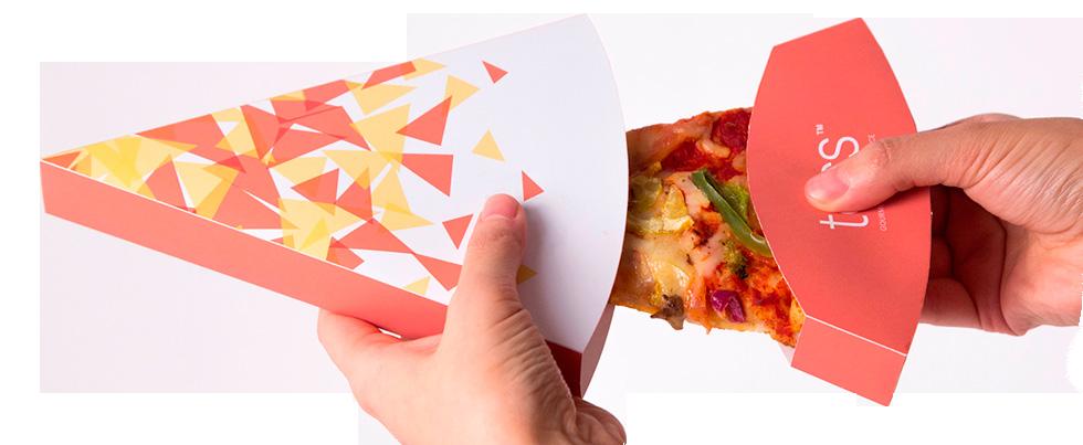 пицца в яркой упаковке