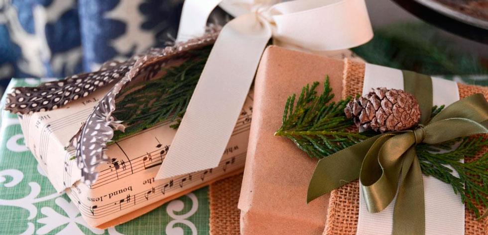 подарки в крафте
