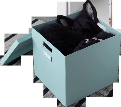 бирюзовая коробка с крышкой