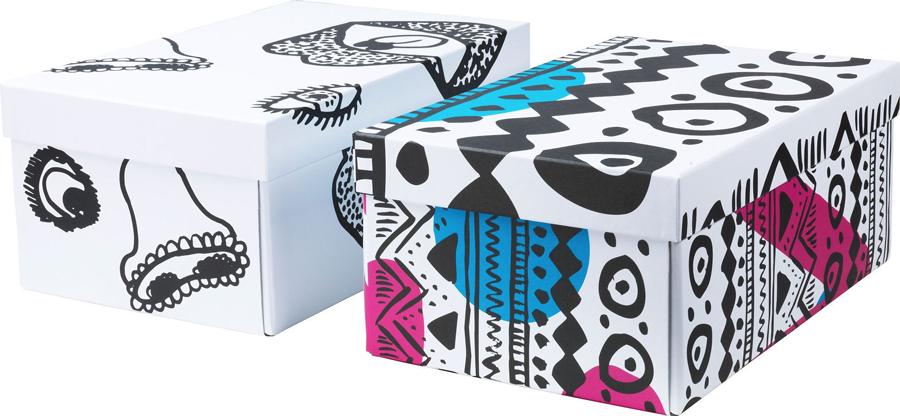 яркие коробки для обуви