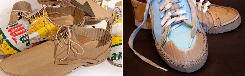 картонные туфли
