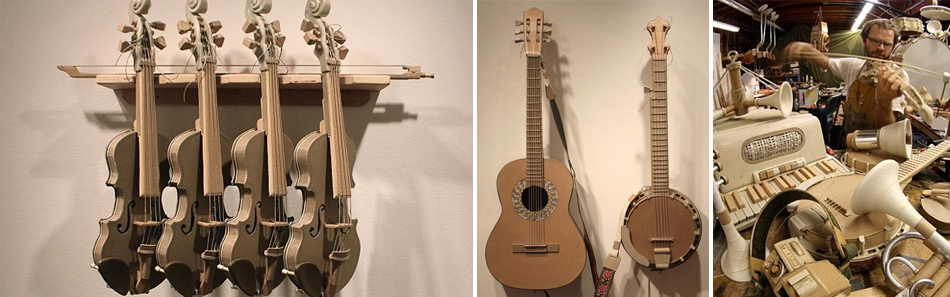 музыкальные инструменты из картона