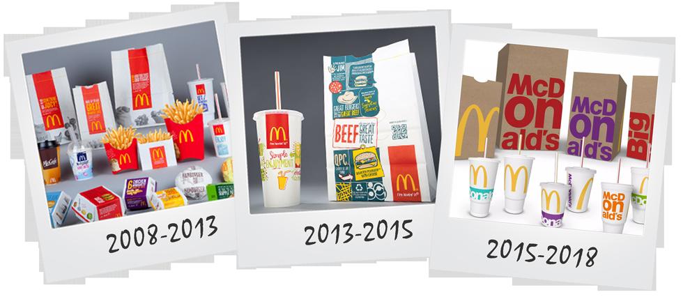 упаковка Макдоналдс 2008-2018