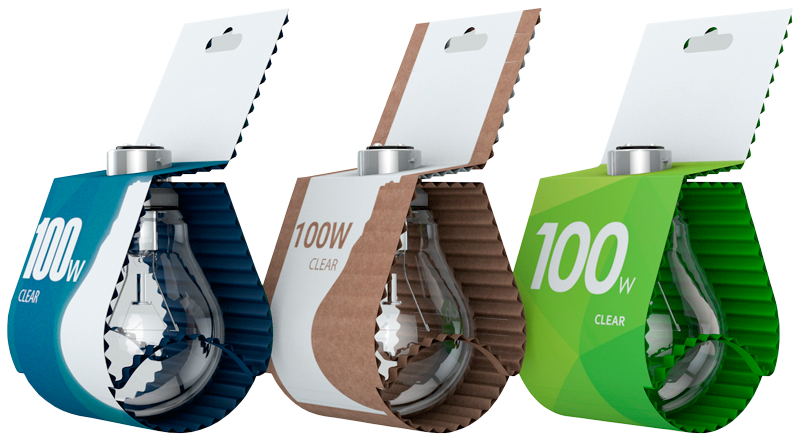 лампочки в картонных коробках