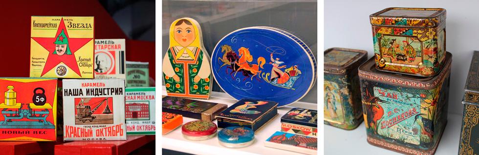 экспозиция музея упаковки