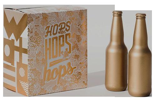 золотистая упаковка для бутылок