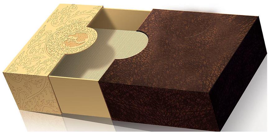 подарочная коробка с вырубкой