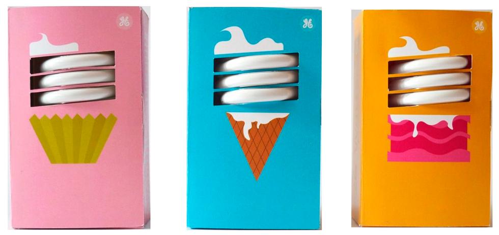 сочные цвета на упаковках лампочек