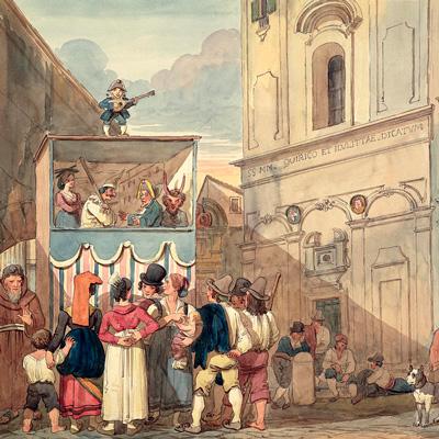 средневековый театр на площади
