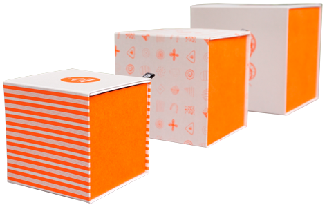 оранжевые упаковки