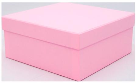 розовая коробка крышка-дно